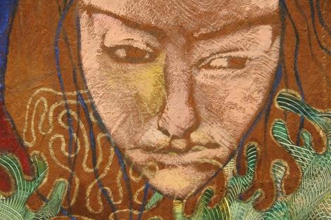 """""""Self Portrait"""", Mixed Media, 2012"""